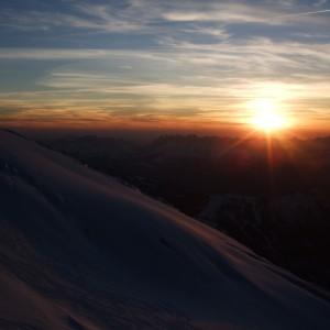 coucher de soleil mont blanc