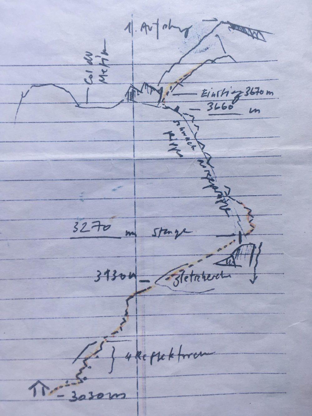 Topo arête du Meitin Grand Combin alpinisme escalade valais Valsorey