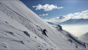 Grand Mont face nord ouest couloir Mines Beaufortain ski randonnée