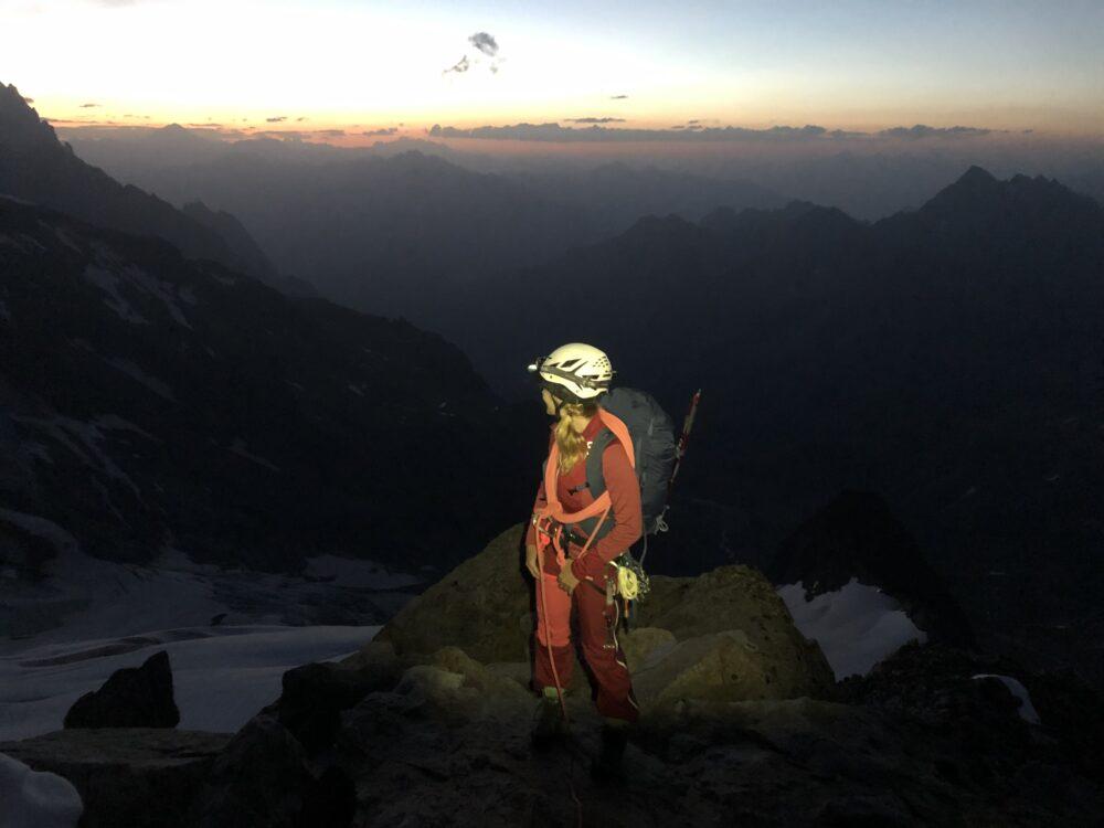 Alpinisme aiguille des Glaciers arête sud est petite Kuffner glacier des Glaciers bivouac Estelette glacier Estelette Lée Blanche