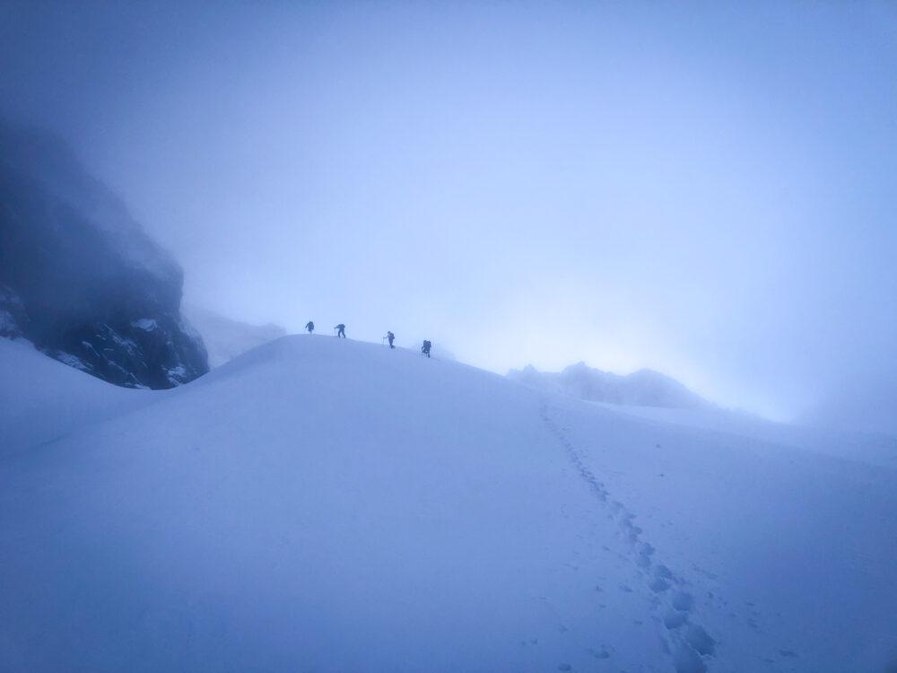 Alpinisme Dôme des Glaciers refuge Robert Blanc Beaufortain escalade Mont Blanc aiguille des Glaciers
