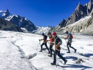 refuge couvercle mer glace Stage alpine running alpi trail Mont Blanc