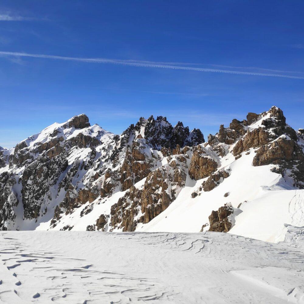 Queyras ski de randonnée Pic du Cros col du Lauzon Arvieux ski de rando