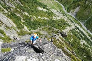 Grande voie Séloge escalade Beaufortain