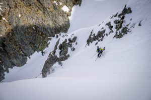 Pointe Mines ski pente raide Beaufortain
