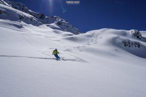 ski randonnée Beaufortain Comborsier lac Tempêtes