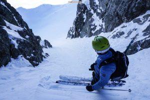 Couloir nord Grand Mont ski pente raide Beaufortain