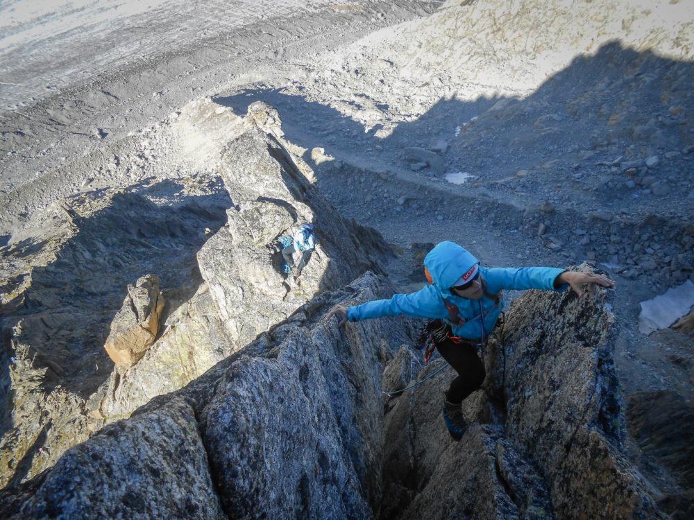 Arête du Rabouin massif du Mont Blanc Chamonix escalade alpinisme Argentière refuge