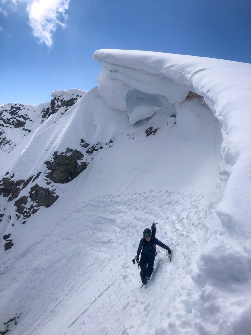 Mont Oreb face nord Aiguille Rouge Mont Blanc ski de randonnée ski de pente raide ski de rando