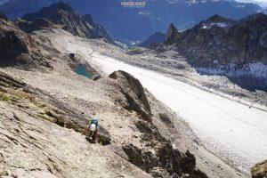 Aiguille Orny voie moquette escalade Mont Blanc alpinisme