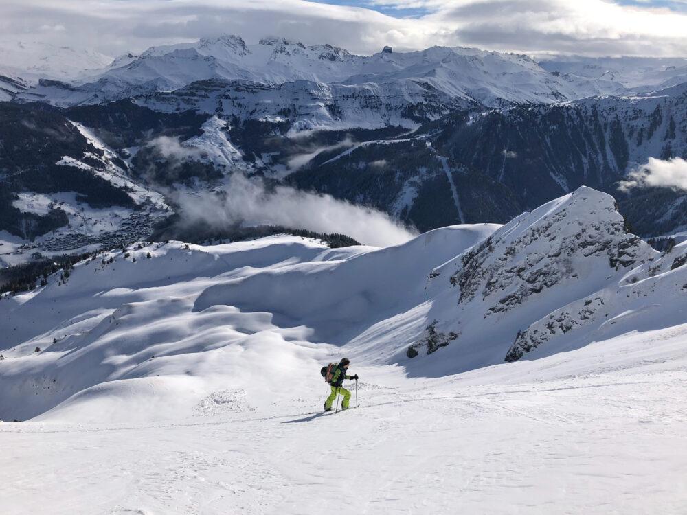 Ski de randonnée legette du Mirantin Plan Villard Beaufortain Arêches Beaufort