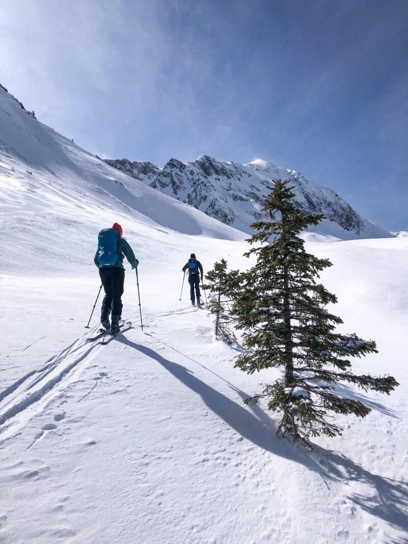 Ski de randonnée ski de rando Grand Mont Beaufortain Arêches Beaufort col de la Forclaz refuge de l'Alpage