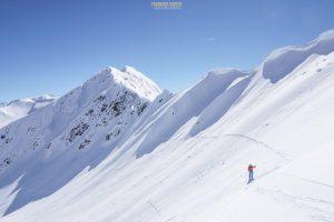 ski randonnée Beaufortain Grande Journée pic vache rouge
