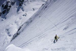 Pointe Yeld ski pente raide Mont Blanc