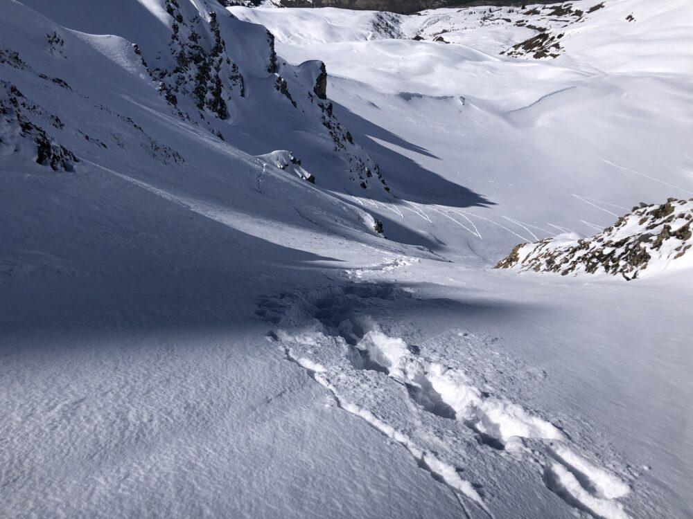 Pointe d'Arpire Beaufortain ski pente raide ski de rando ski de randonnée Arêches Beaufort Roselend ouverture steep ski skiing