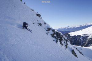 pointe des Mines couloir nord ski de randonnée Beaufortain