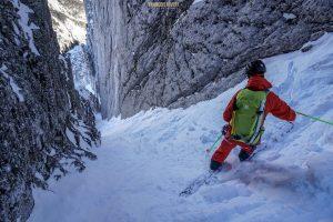 ski pente raide Bauges déprofondis Pécloz alpinisme randonnée