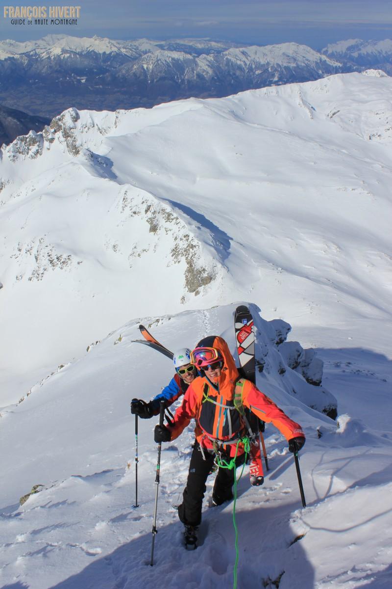Crédit 5 Arête ouest Grand Mont Sylvie et Eddy