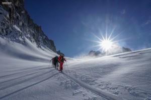 ski randonnée Argentière col Tour Noir alpinisme Mont Blanc