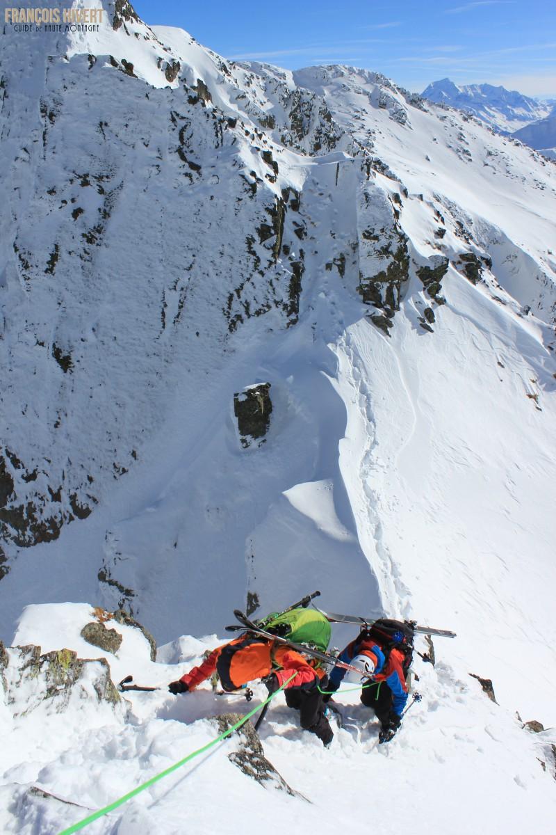 Crédit 6 Arête ouest Grand Mont Sylvie et Eddy