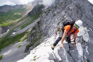 Arête Sud Ouest pointe Verts Aravis escalade alpinisme