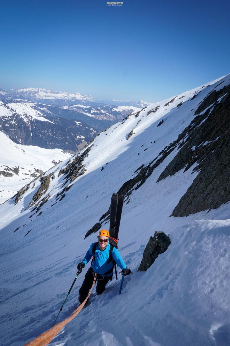 Grand Mont arête Ouest Beaufortain ski de randonnée ski de rando Arêches Beaufort