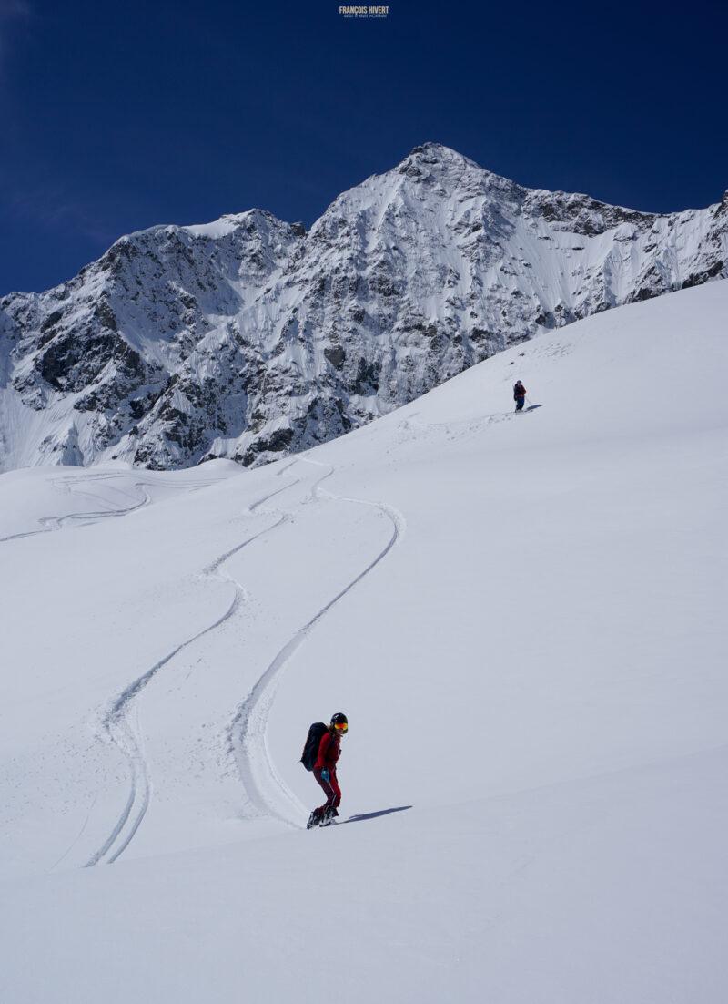 Refuge de Chamoissière Villar d'Arène ski de randonnée ski de rando Oisans Ecrins Les Agneaux Brèche de la plate des Agneaux Arsine Pic de neige Cordier