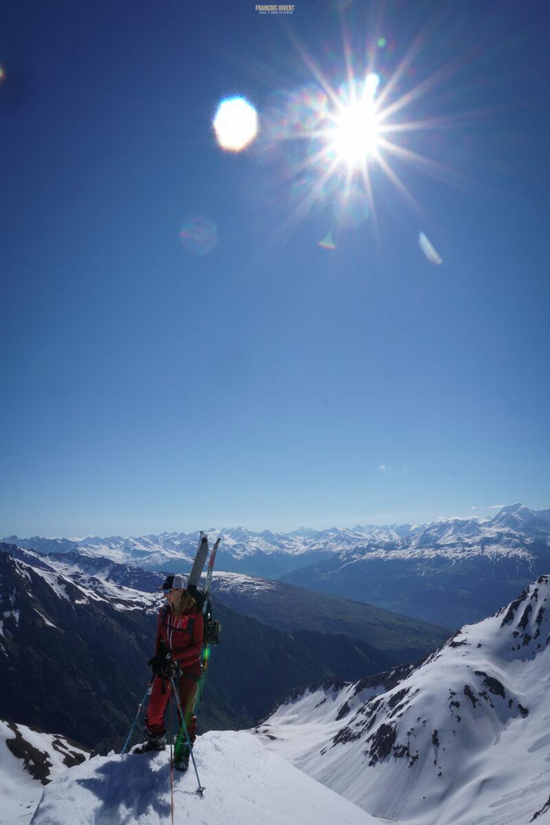 Ski de rando ski de randonnée printemps Beaufortain Crêt du Rey lac des Fées Massif du Beaufortain guide de haute montagne