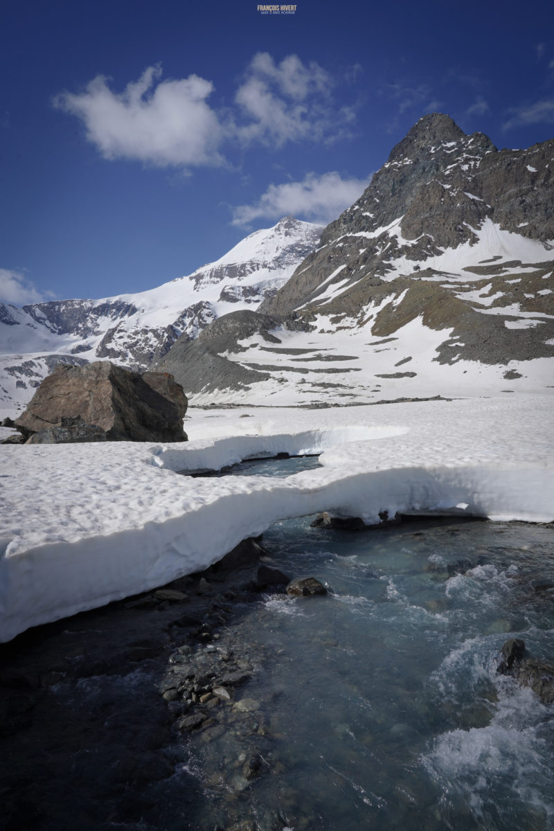 ski de rando vanoise pointe francesetti bonneval rivière