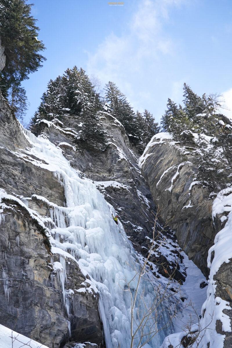 cascade de glace escalade Beaufortain lac Saint Guérin Arêches Beaufort
