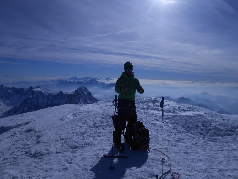 Mats sommet Mont Blanc