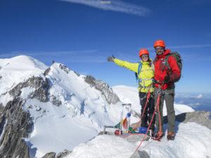 Alpinisme Mont Blanc Tacul Chamonix aiguille du Midi