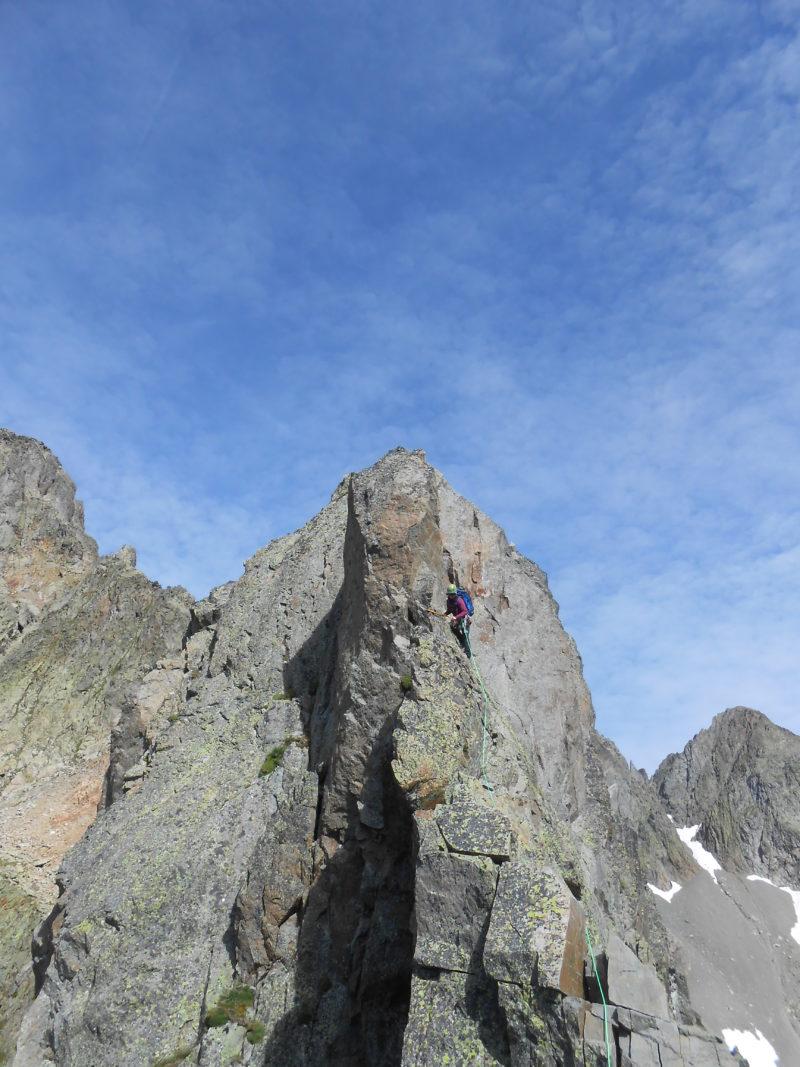arête sud est index chamonix mont blanc escalade aiguilles rouges