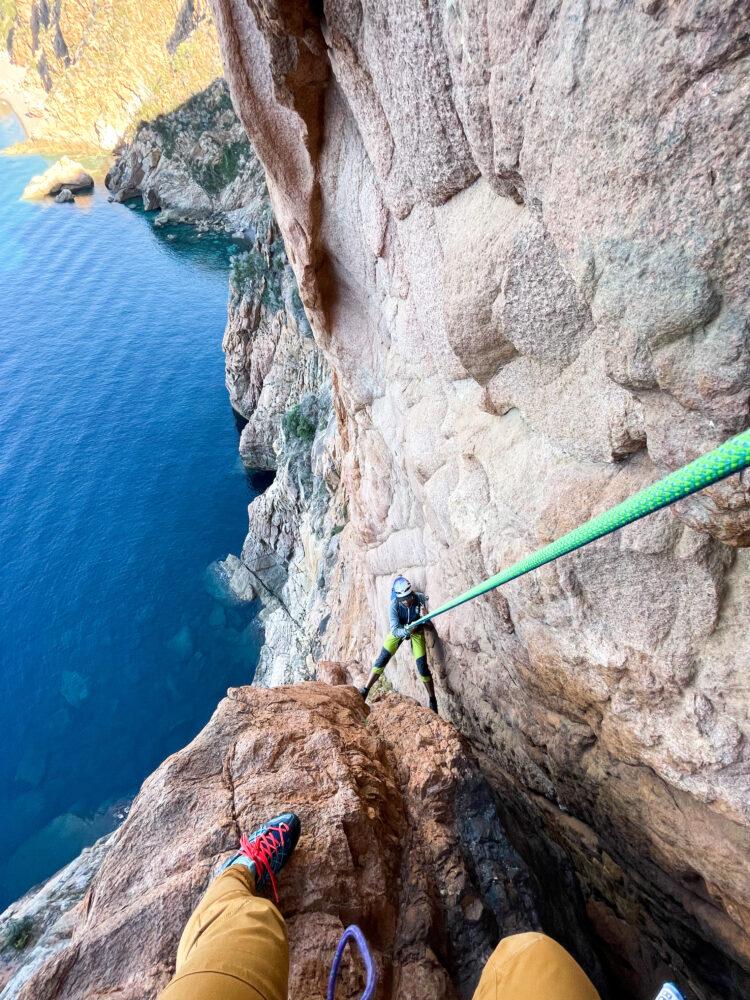 Corse Porto escalade Climbing ambata du melu montagne Cosica Piana