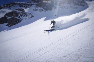 Aiguille Grand fond face nord ski randonnée Beaufortain