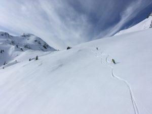 Vallon suspendu Besace Comborsier ski de randonnée Beaufortain