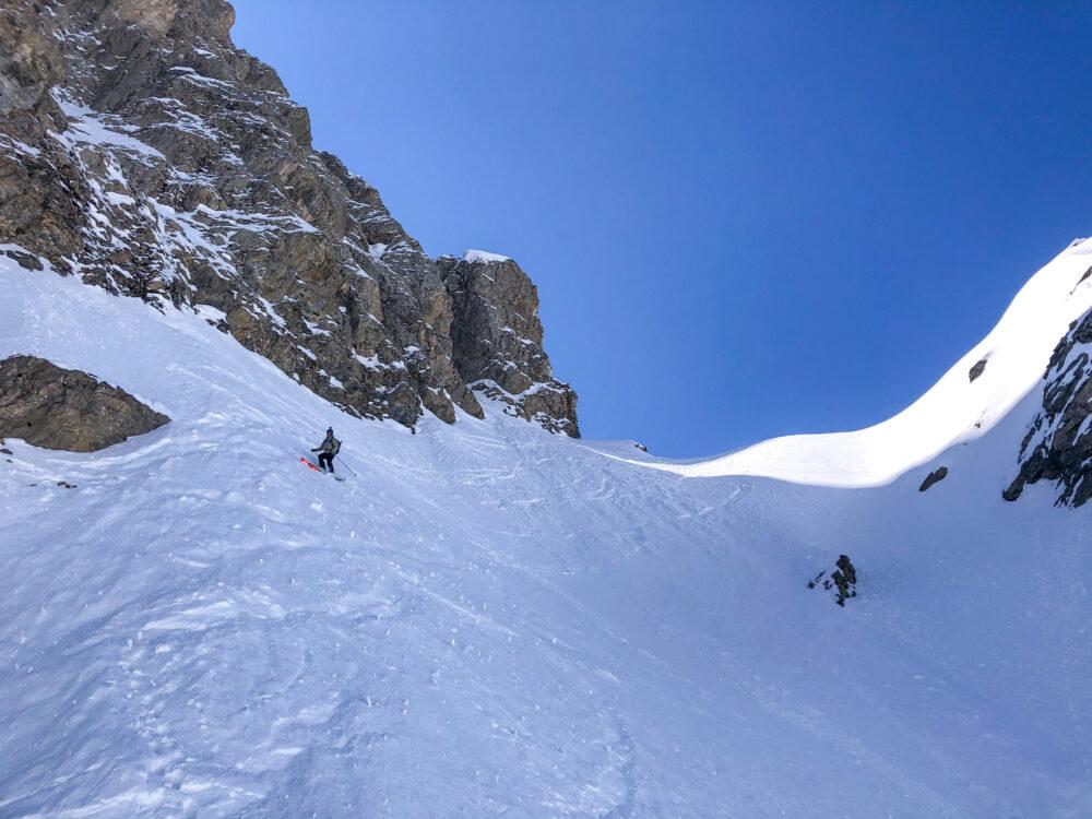 Beaufortain ski de pente raide ski de rando ski de randonnée les Contamines aiguille de la Pennaz