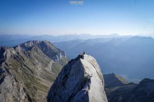 Pointe Percée arête Doigt alpinisme escalade Aravis