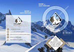 Flyer guide haute montagne François Hivert alpinisme escalade ski randonnée Beaufortain