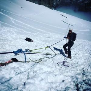 formation sécurité glacier chamoniarde Mont Blanc alpinisme