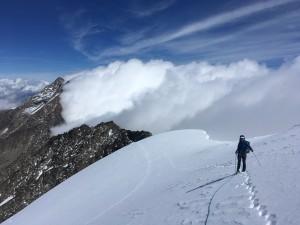 traversée Weissmies arête nord alpinisme Valais Suisse