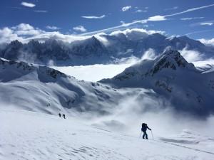 Col lacs noirs ski randonnée aiguilles Rouges Mont Blanc
