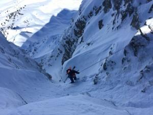 Pointe Mines versant Nord Ouest Beaufortain ski pente raide randonnée