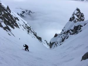 couloir ENSA ski pente raide randonnée Mont Blanc Chamonix