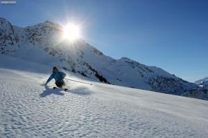 Couloir Mines Beaufortain pente raide ski randonnée