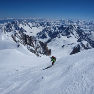 First turn mont blanc