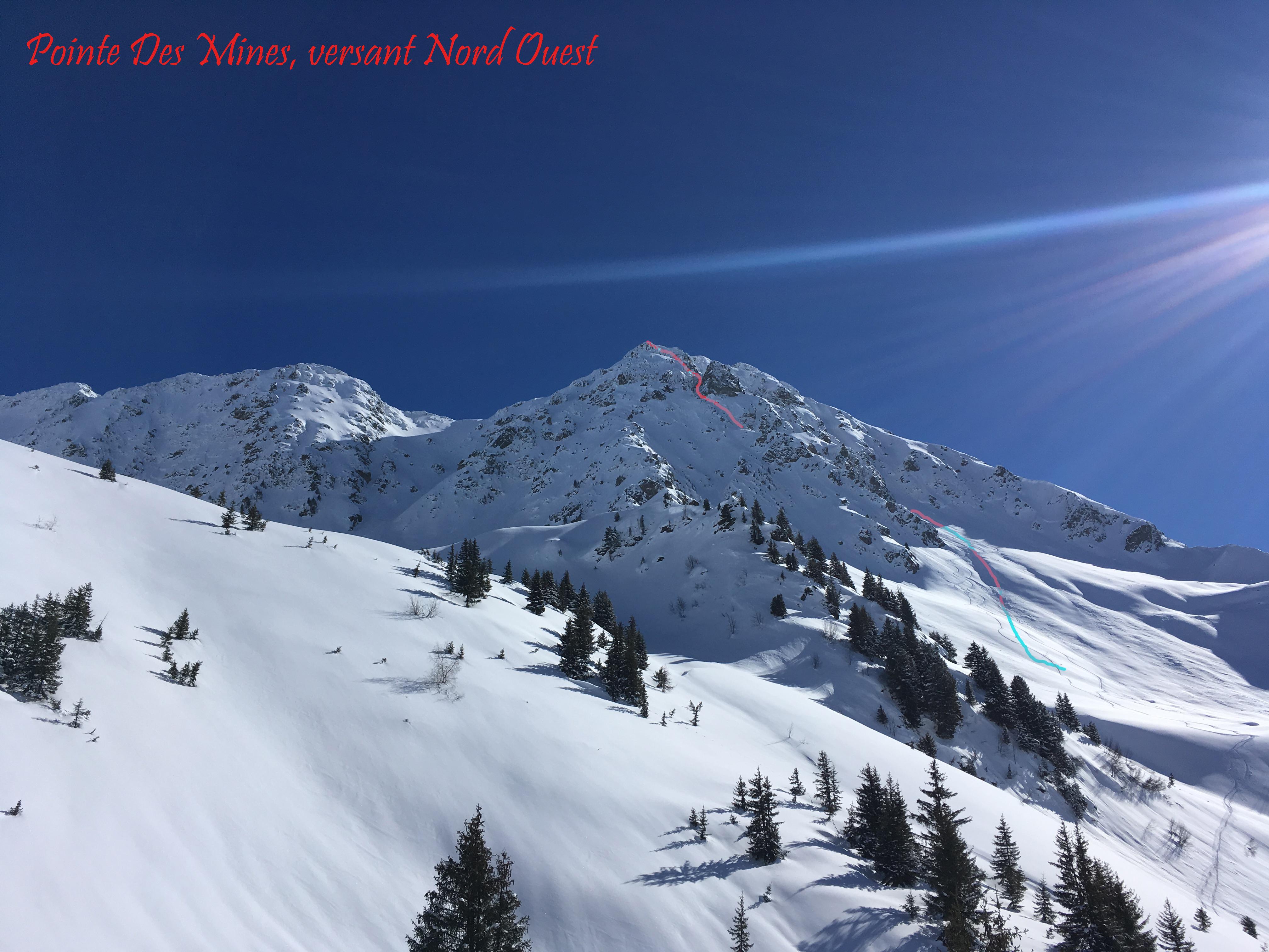 Topo Photo Pointe des Mines versant Nord Ouest