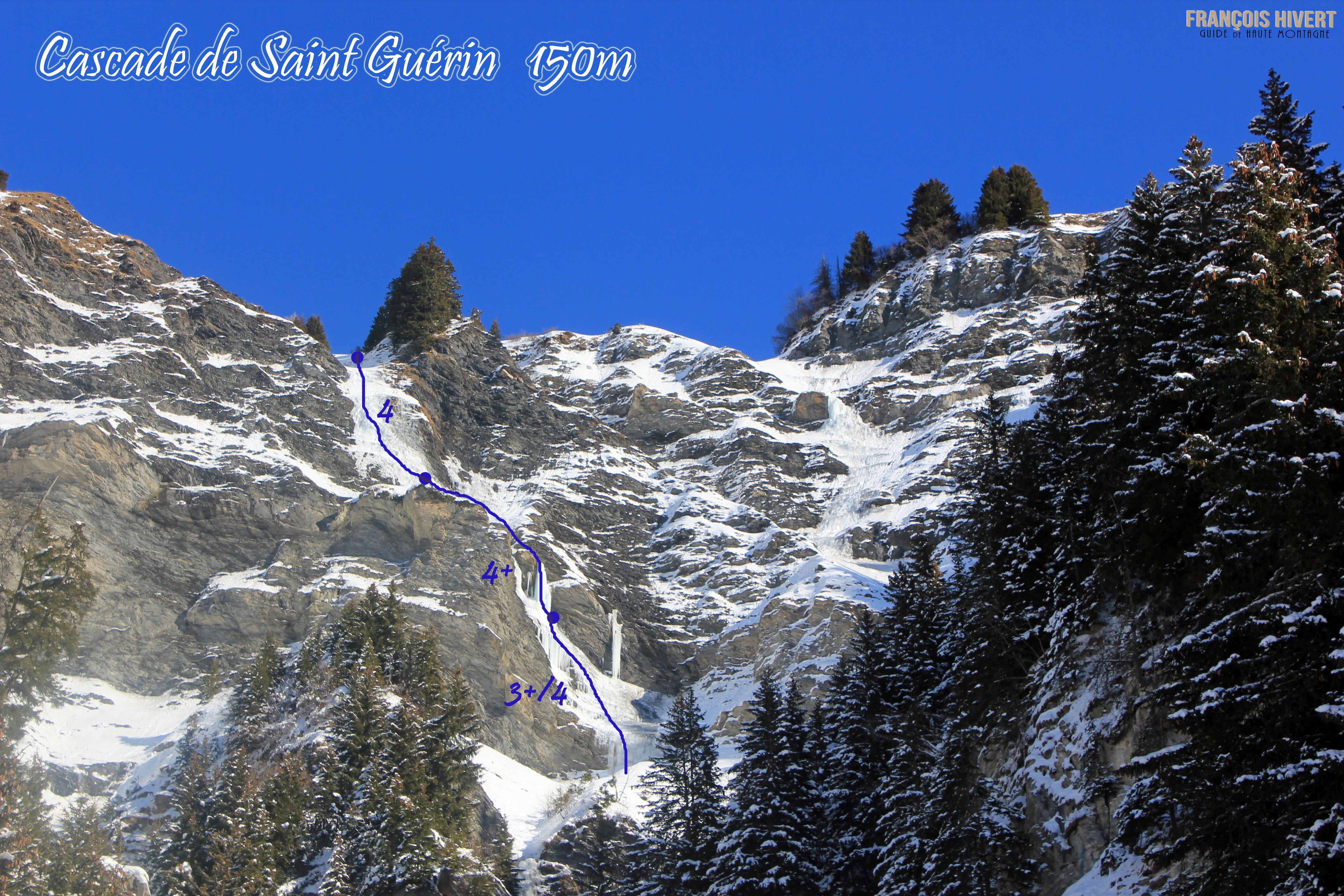 Topo cascade de Saint Guérin