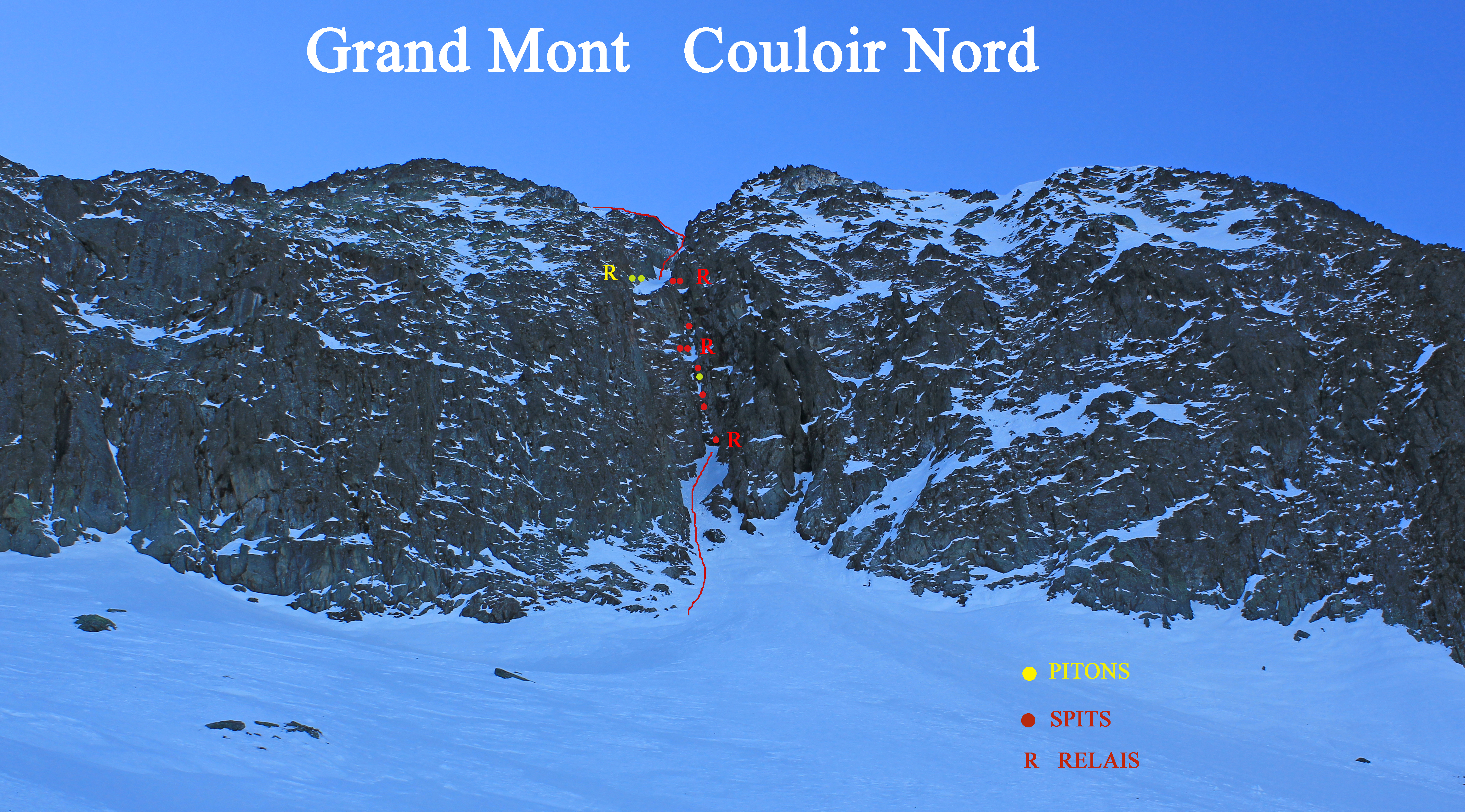 topo Couloir Nord Grand Mont