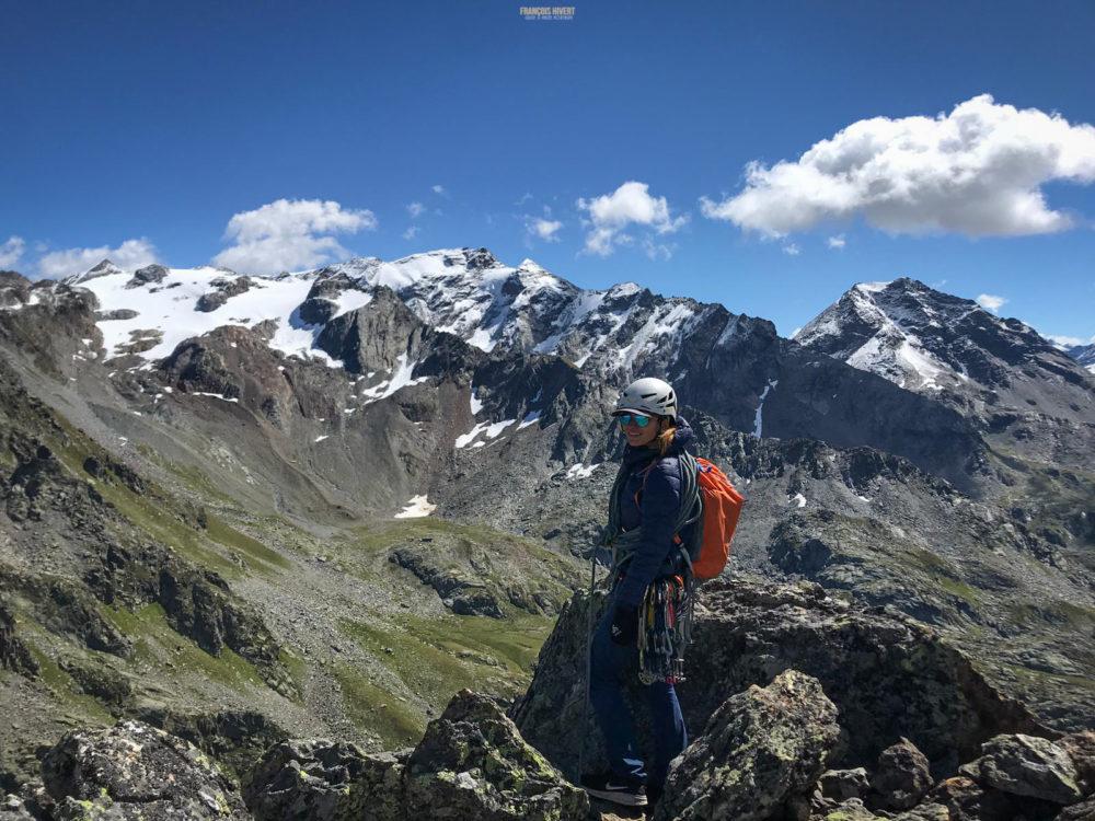 Les Oeillasses voie les Chauchons de Chéché escalade alpinisme Ruitor Vanoise lac Petit